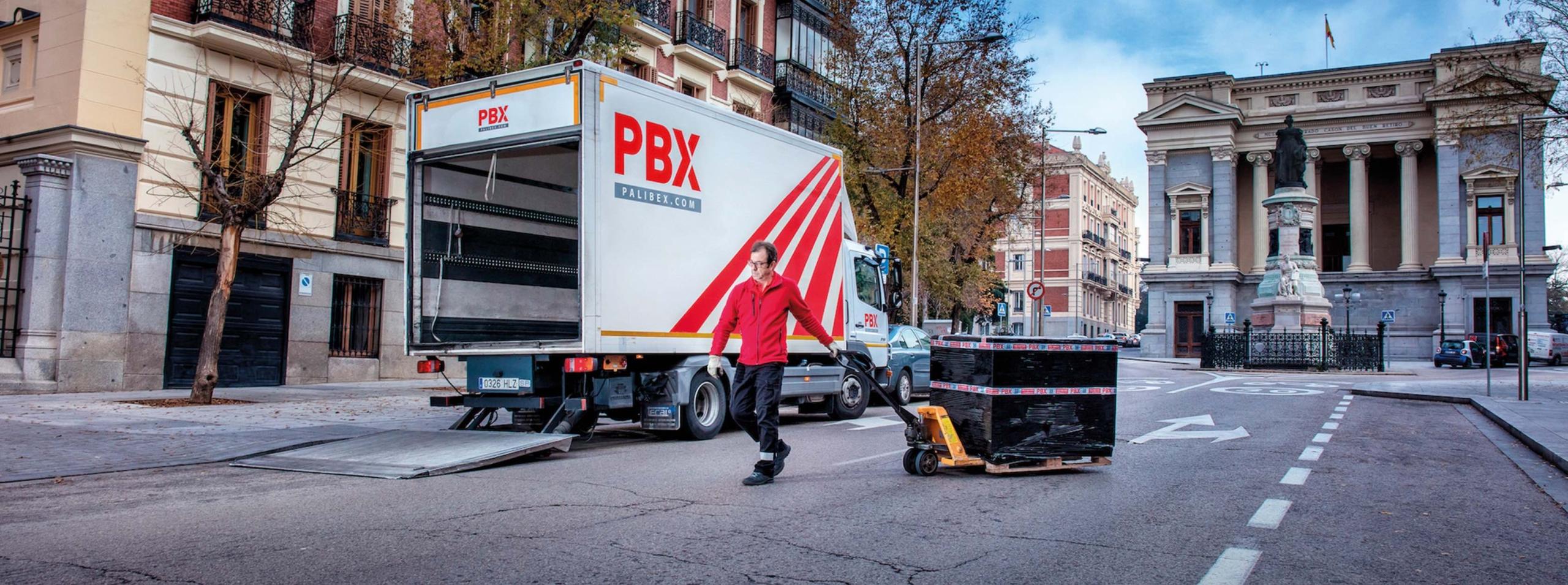 camion reparto palibex - quedate en casa - yo en la carretera