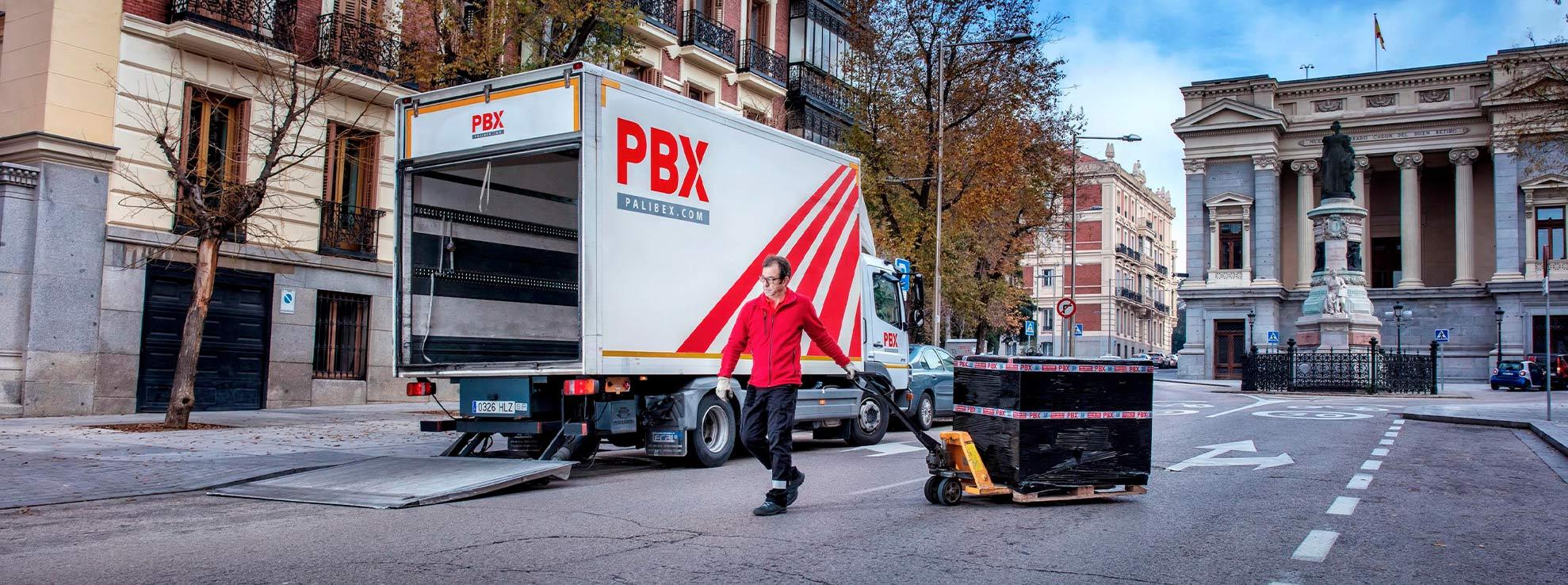Transporte palés 2020- palibex - repartidor palé